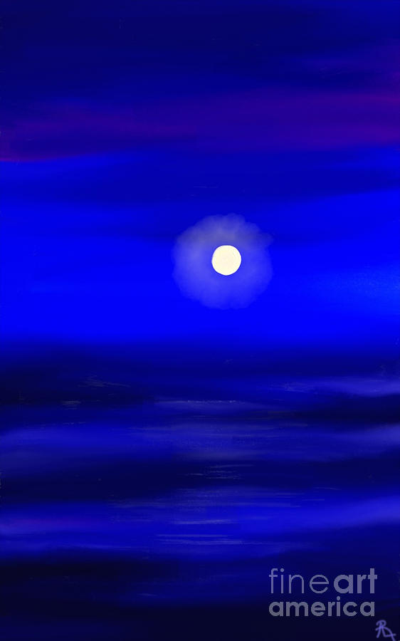 Midnight Painting  - Midnight Fine Art Print