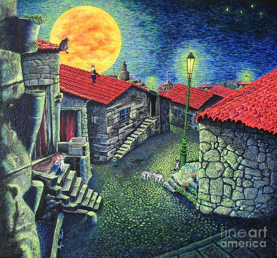 Midnight Concert Painting  - Midnight Concert Fine Art Print
