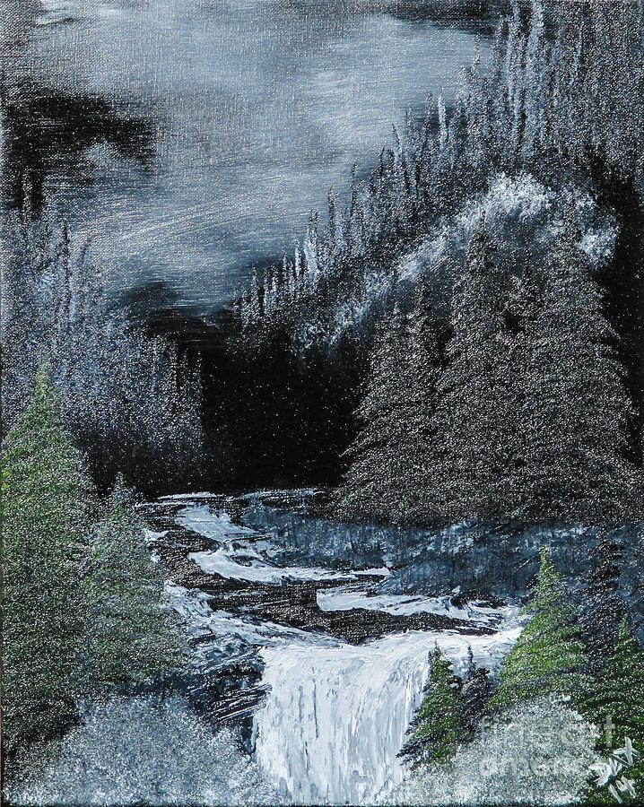 Midnight Falls Painting