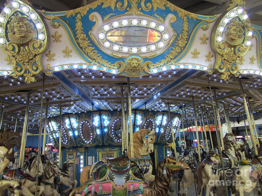 Midnight On A Carousel Ride Photograph  - Midnight On A Carousel Ride Fine Art Print