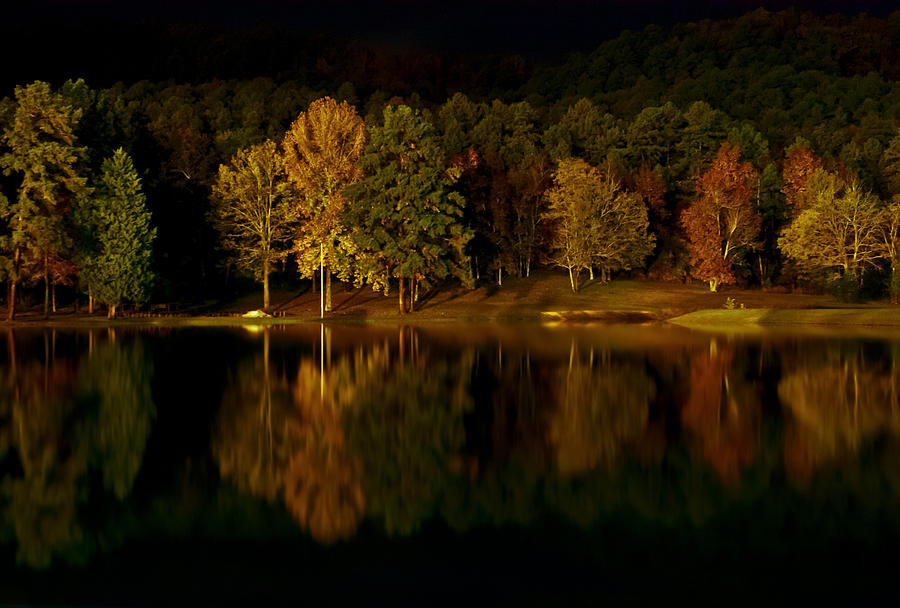 Midnight On The Lake Digital Art