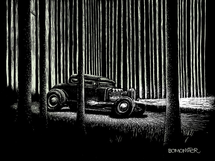 Midnight Run Drawing  - Midnight Run Fine Art Print