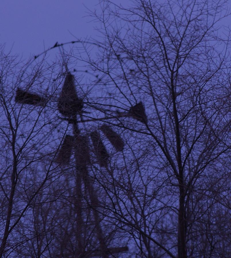 Midnight Windmill Photograph