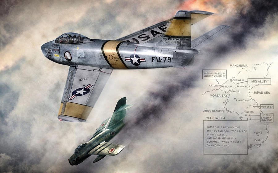 Mig Alley Digital Art - Mig Alley by Peter Chilelli