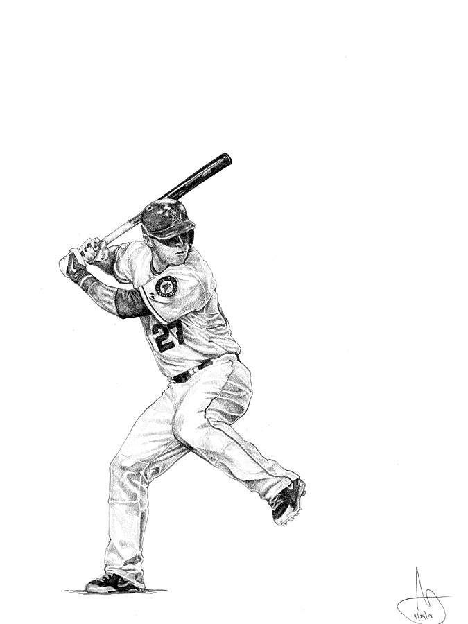 Mike Trout is a drawing by Joshua Sooter which was uploaded on May ...