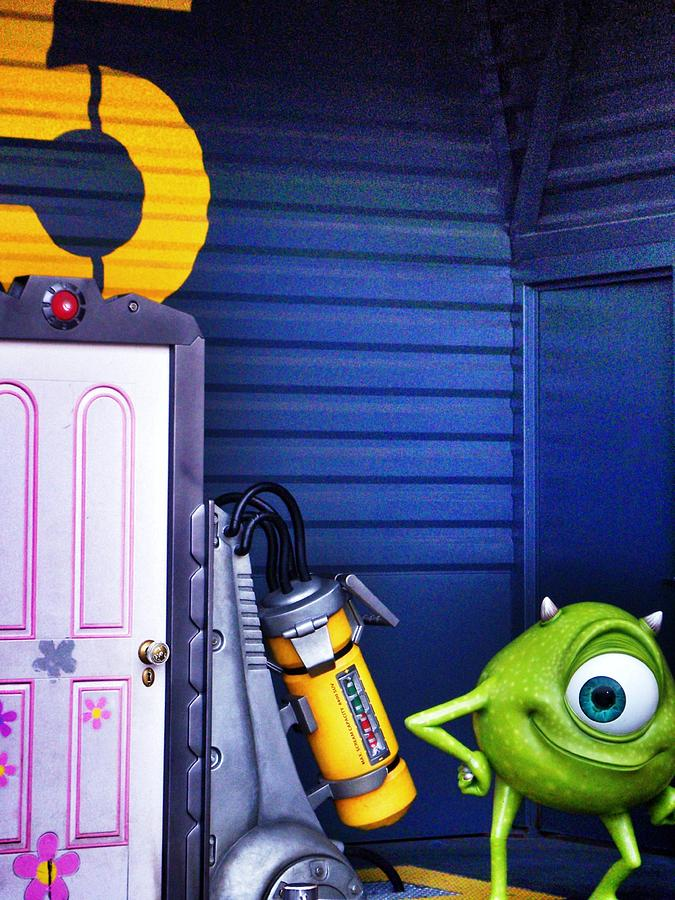 Mike With Boos Door - Monsters Inc. In Disneyland Paris Photograph  - Mike With Boos Door - Monsters Inc. In Disneyland Paris Fine Art Print