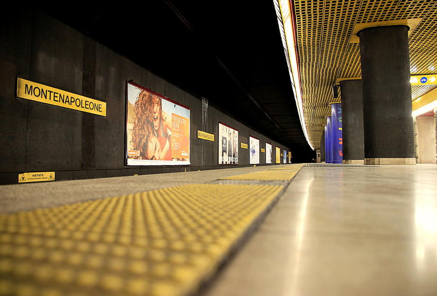 Milan Subway Station Photograph