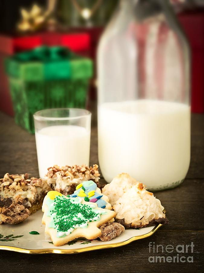 Christmas Photograph - Milk And Cookies by Edward Fielding