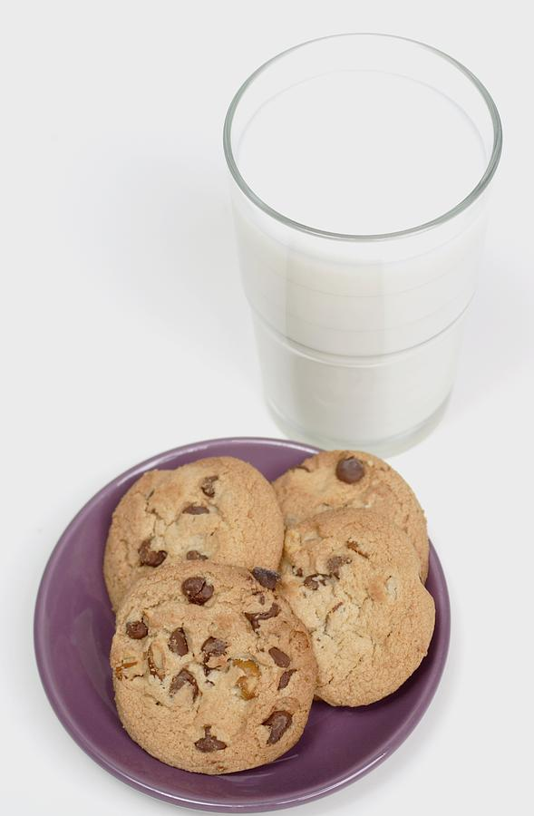 Milk And Cookies Photograph