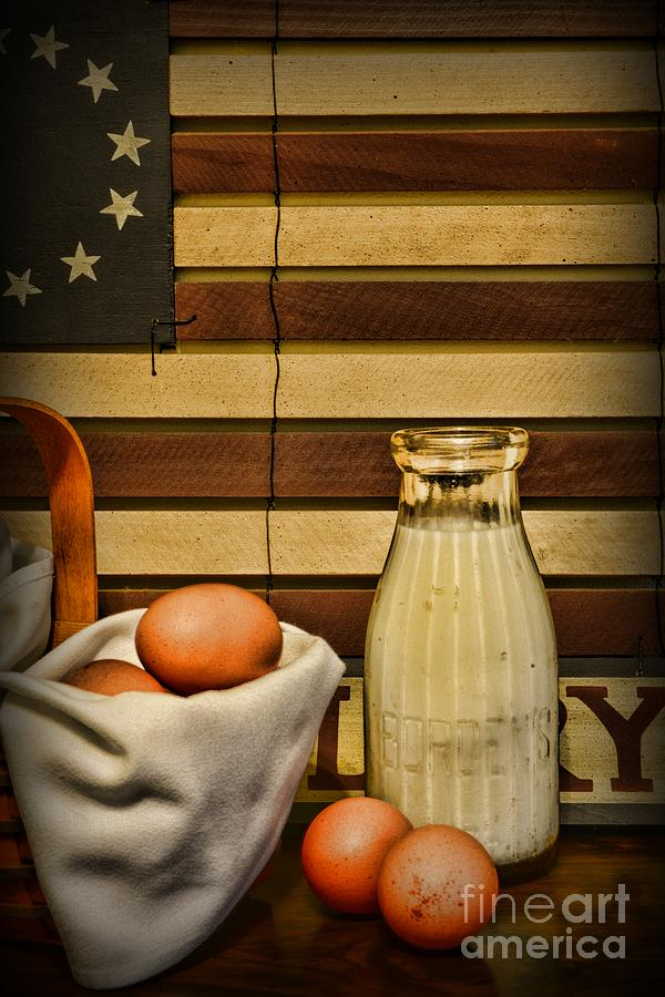 Milk And Eggs Photograph