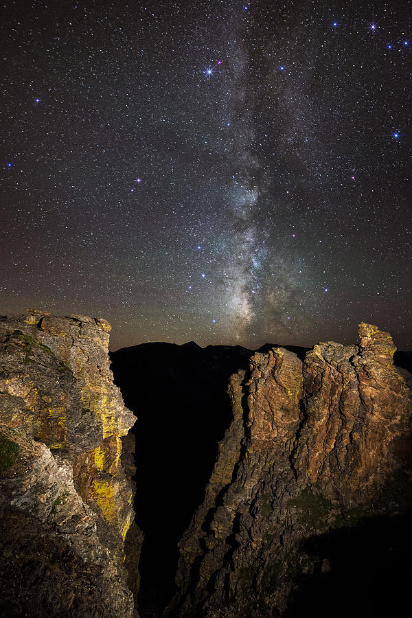All Rights Reserved Photograph - Milky Way Skies Over Rock Cut by Mike Berenson