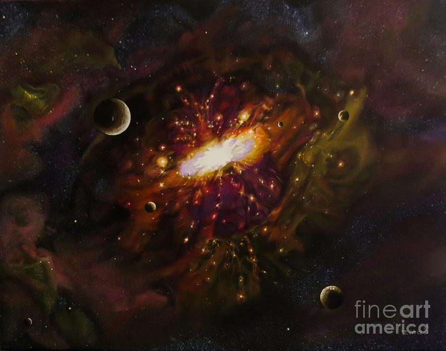 Milky Way Painting  - Milky Way Fine Art Print
