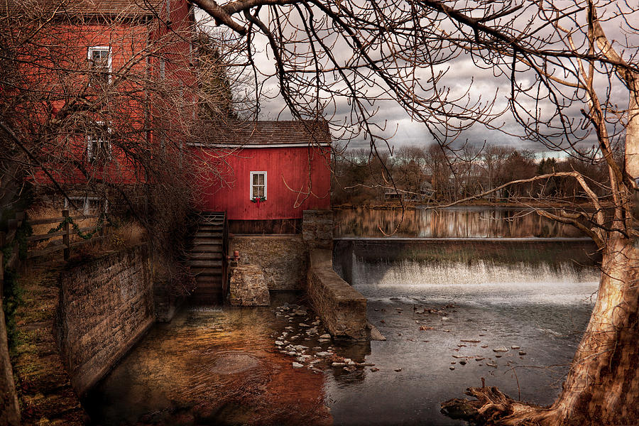 Mill - Clinton Nj - The Mill And Wheel Photograph  - Mill - Clinton Nj - The Mill And Wheel Fine Art Print