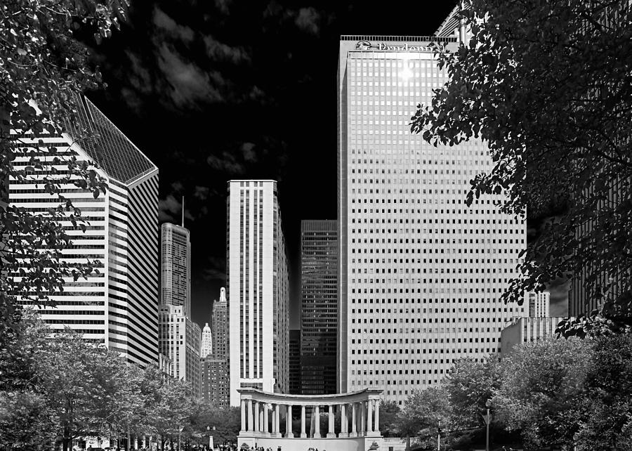 Millennium Park Monument - The Colonnade - Wrigley Square Chicago Photograph