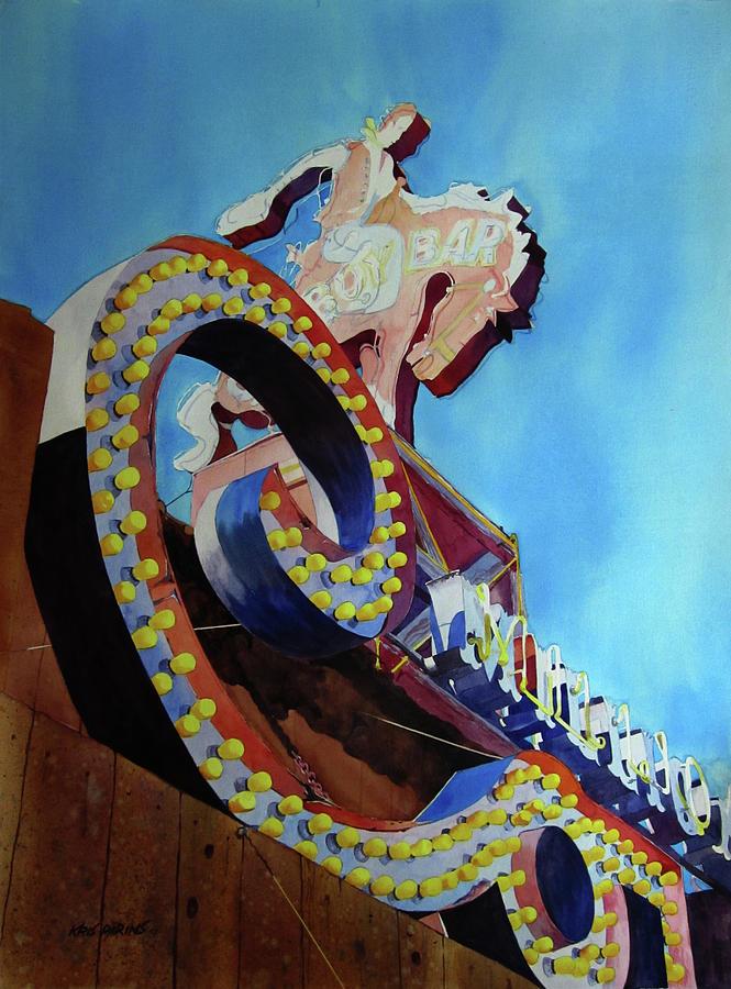 Million Dollar Cowboy Painting