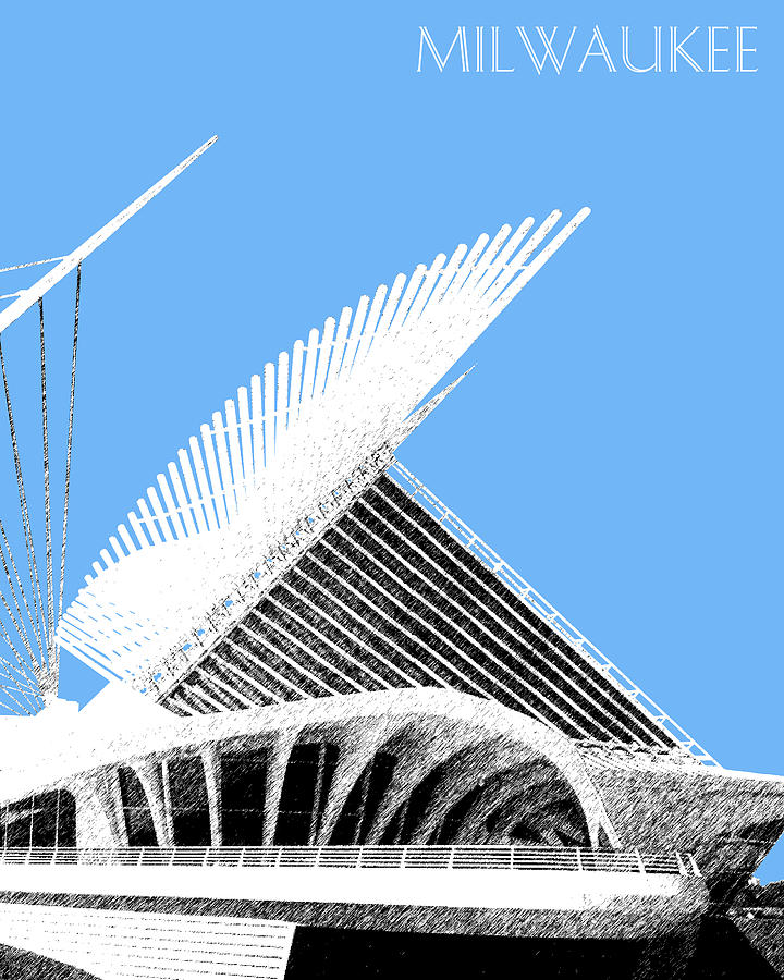 Milwaukee Art Museum Digital Art  - Milwaukee Art Museum Fine Art Print