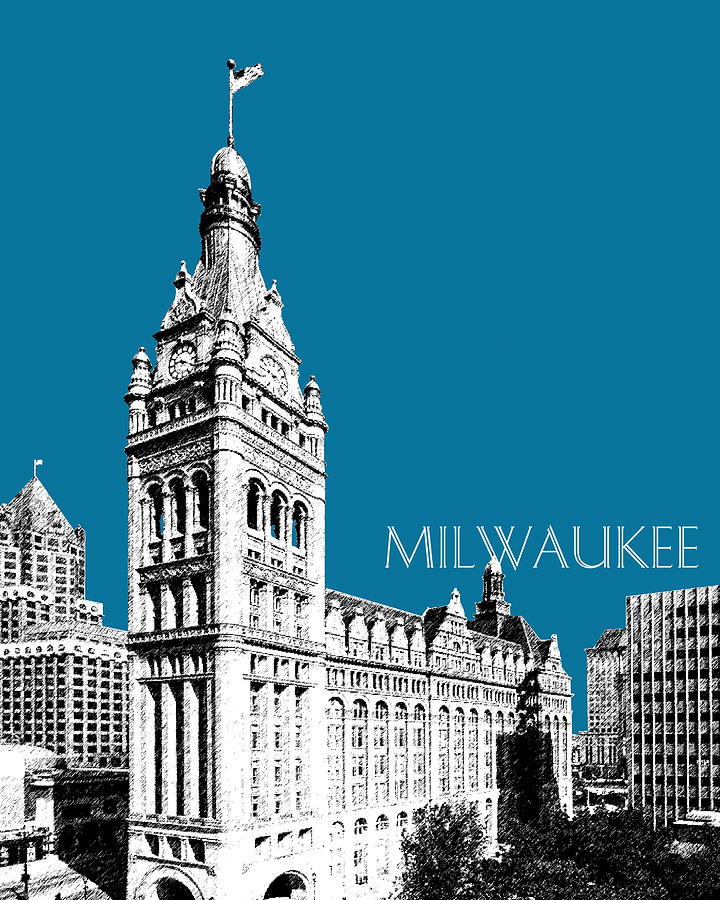 Milwaukee City Hall Digital Art  - Milwaukee City Hall Fine Art Print