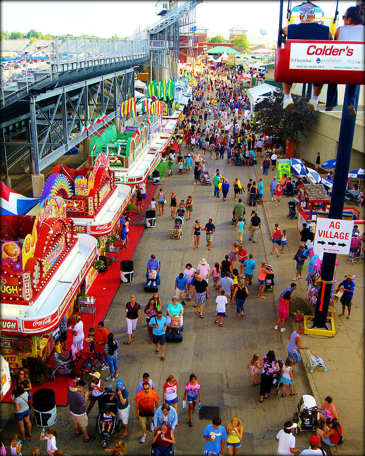 Milwaukee state fair midway by carol toepke for Craft fairs milwaukee wi