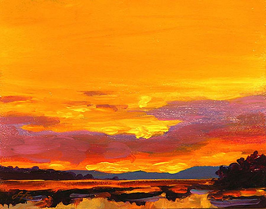 Mimosa Sunrise Painting