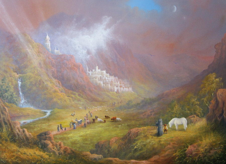 Minas Tirith  War Approaches. Painting  - Minas Tirith  War Approaches. Fine Art Print