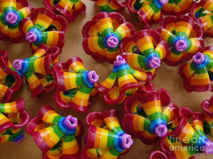 Rainbow Painting - mini Flying Rainbow Lasagnes by Nofirstname Aurora