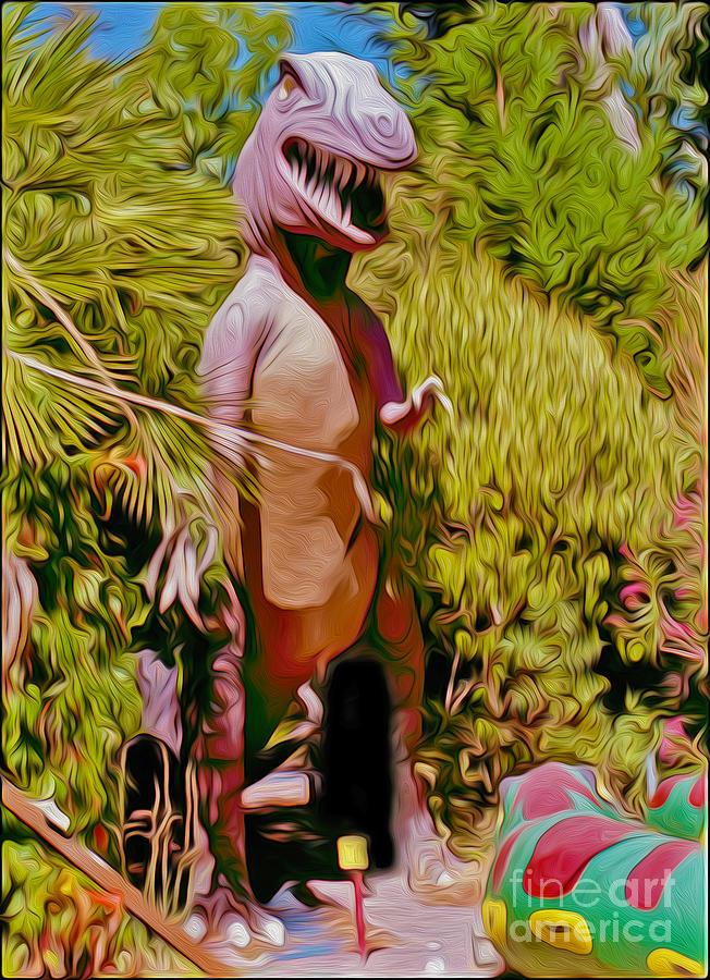 Mini-golf T-rex Painting