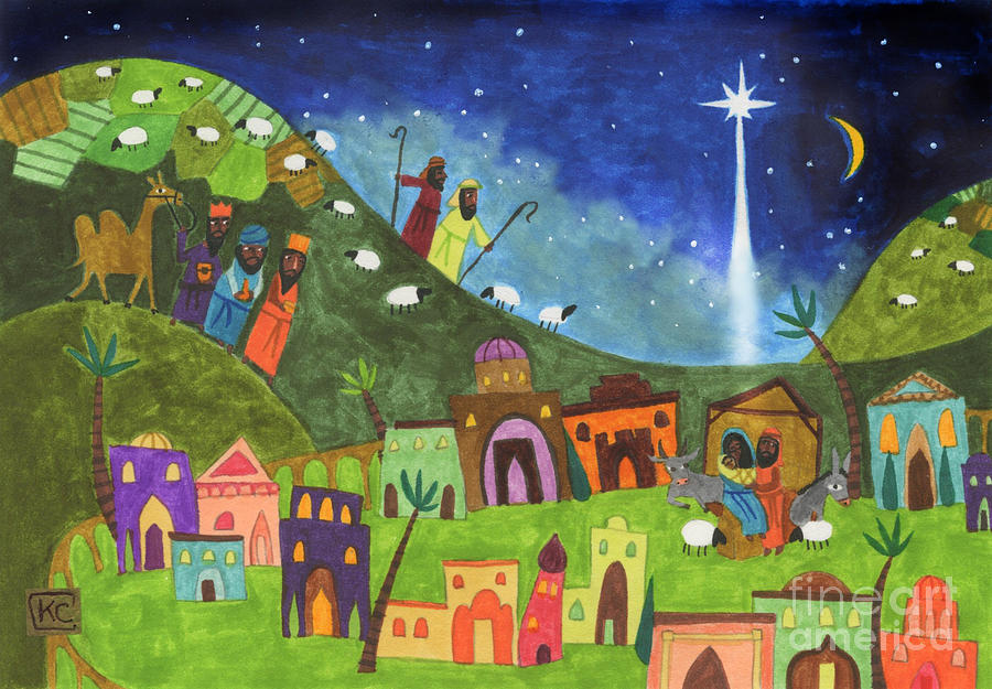 Mini Nativity Painting  - Mini Nativity Fine Art Print