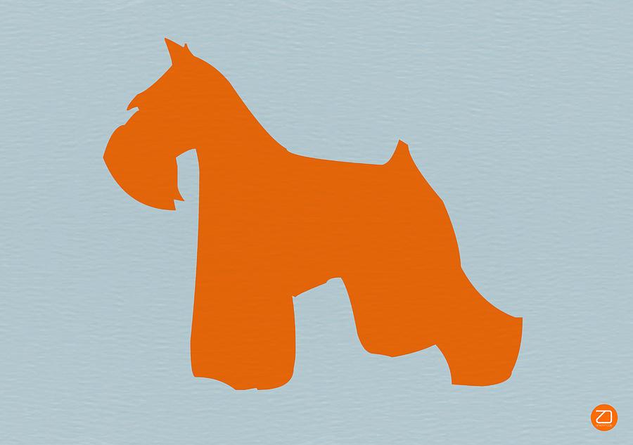 Miniature Schnauzer Orange Digital Art