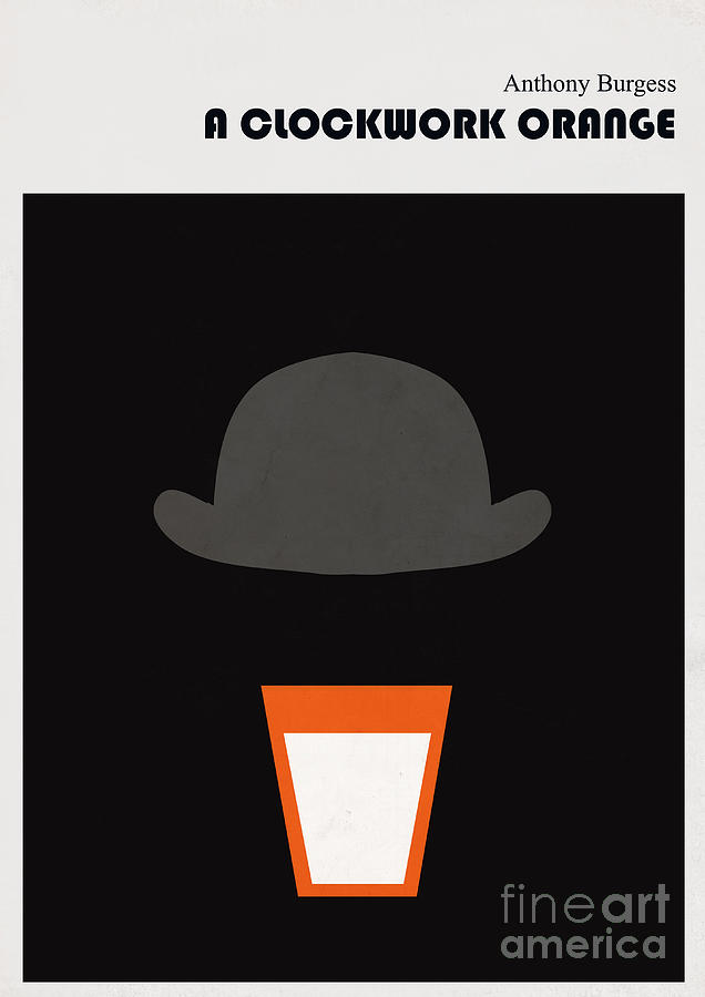 Minimalist Book Cover Anthony Burgess Clockwork Orange Digital Art