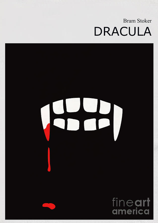 Minimalist Book Cover Bram Stoker Dracula Digital Art