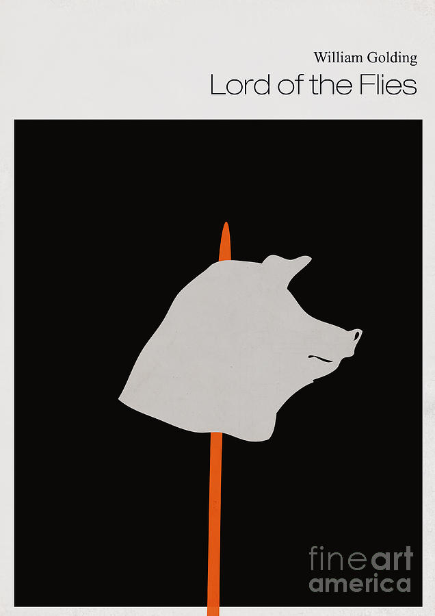 Minimalist Book Cover Lord Of The Flies Digital Art
