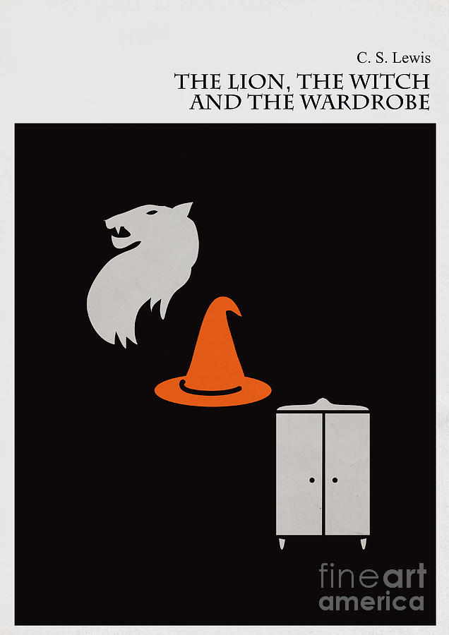 Minimalist Book Cover The Lion The Witch And The Wardrobe Digital Art  - Minimalist Book Cover The Lion The Witch And The Wardrobe Fine Art Print