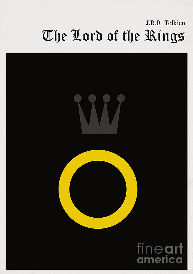 Minimalist Book Cover The Lord Of The Ring Digital Art  - Minimalist Book Cover The Lord Of The Ring Fine Art Print