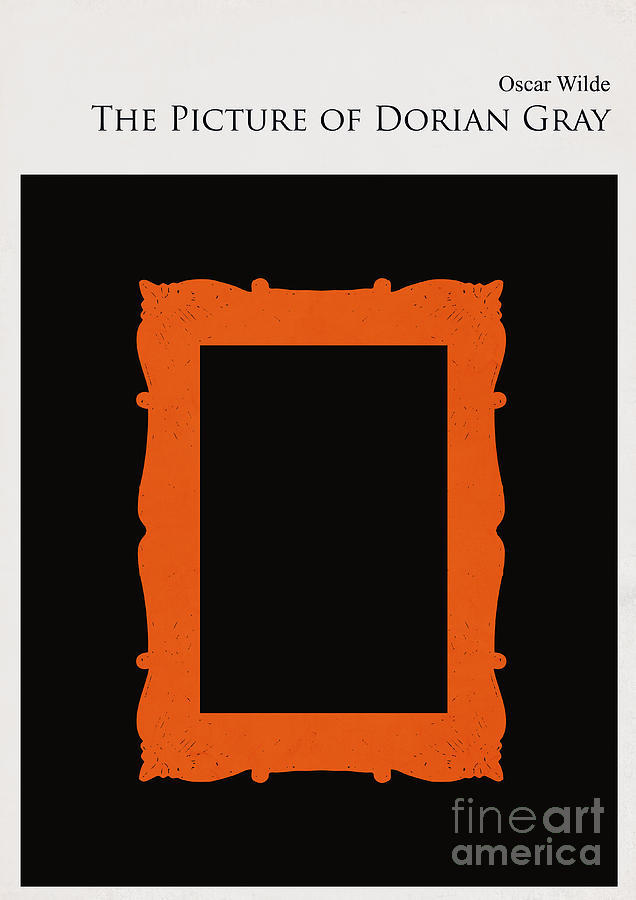 Minimalist book cover the picture of dorian gray digital art