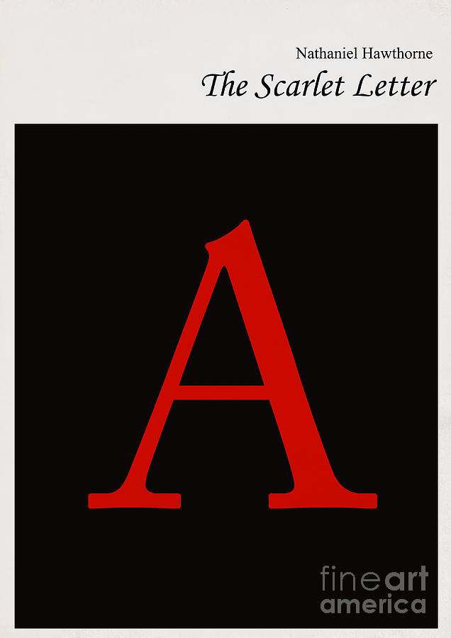 Minimalist Book Cover The Scarlet Letter Digital Art