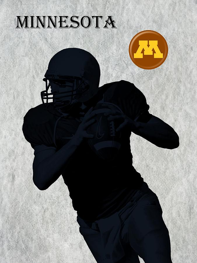 Minnesota Football Digital Art  - Minnesota Football Fine Art Print