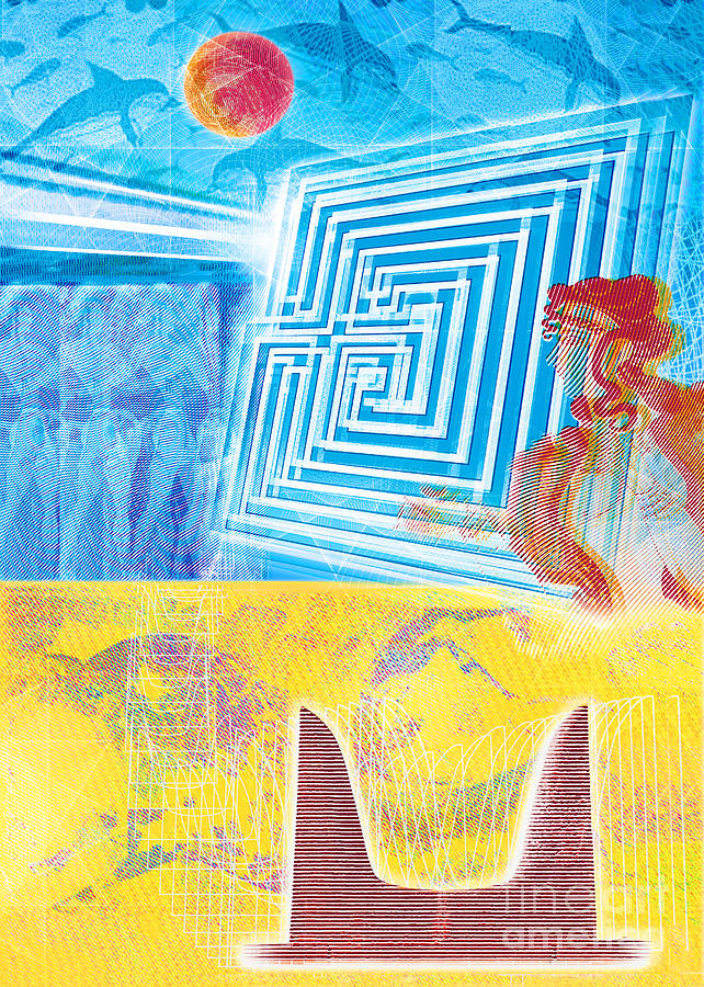 Minoan Labyrinth Knossos  Digital Art