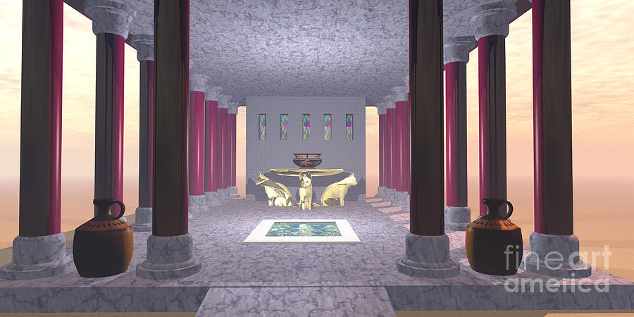 Minoan Temple Painting