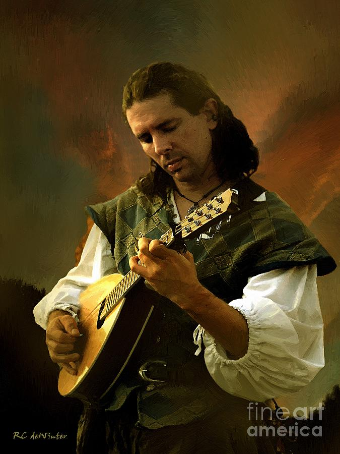 Portrait Painting - Minstrel Angelic by RC deWinter