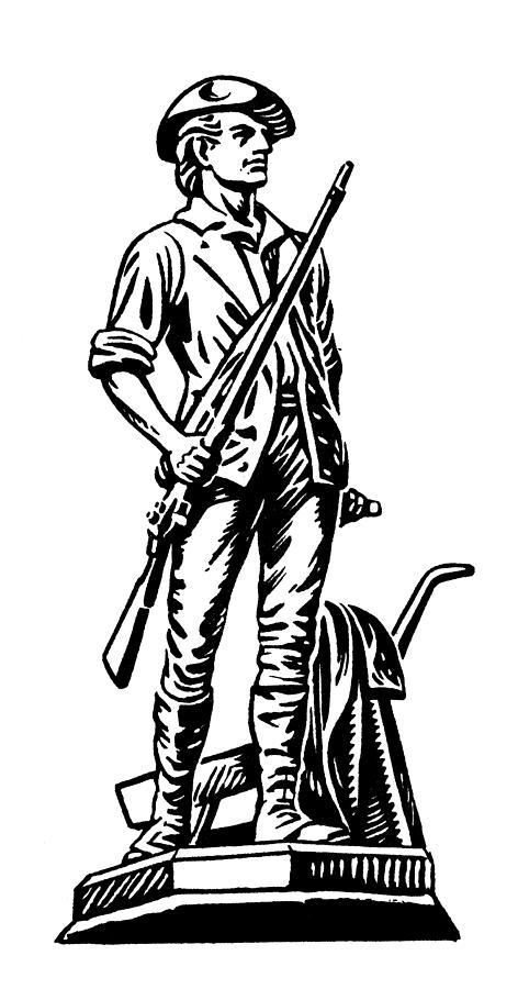 18th Century Photograph - Minutemen by Granger