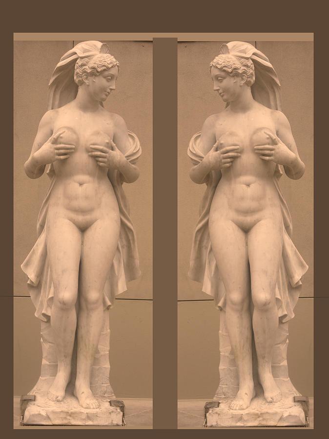 Mirror Image Adorable Beauty Princess Sculpture