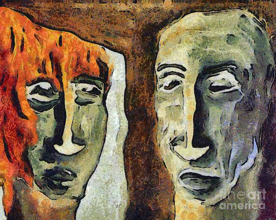Mirroring - Retrospect Mixed Media  - Mirroring - Retrospect Fine Art Print