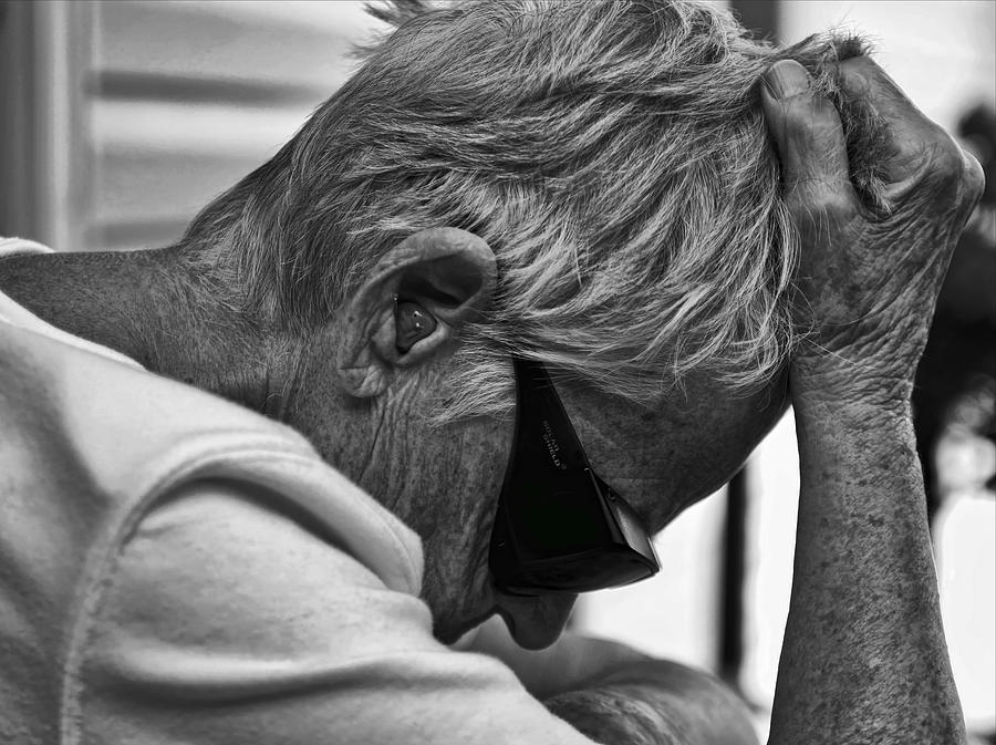 Black/white Photograph - Misery by Denise Romano