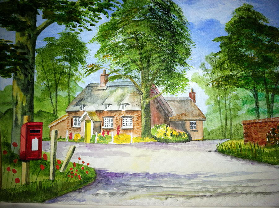 Miss Marples Cottage  St Mary-meade Painting  - Miss Marples Cottage  St Mary-meade Fine Art Print