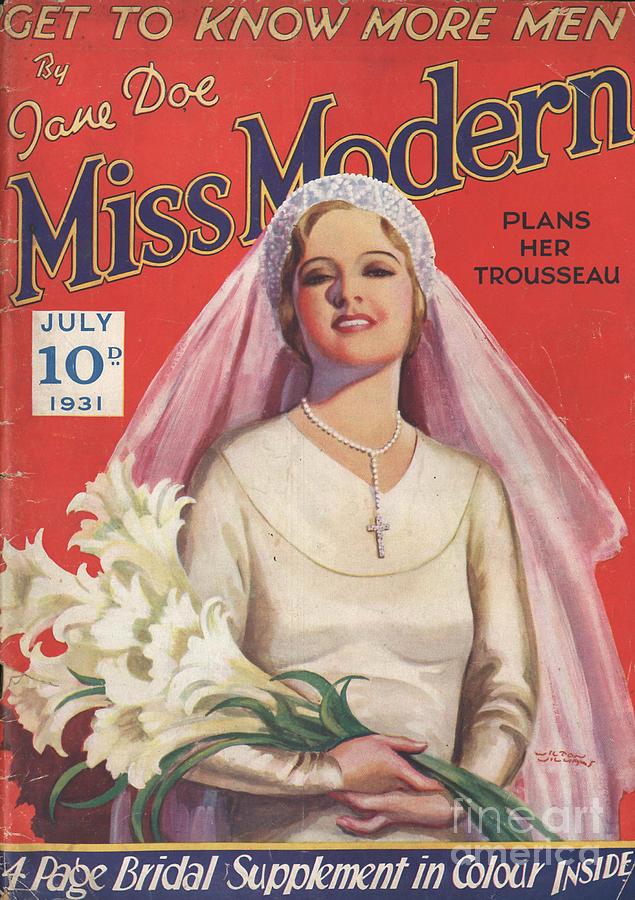 Miss Modern 1931 1930s Uk   Brides Drawing