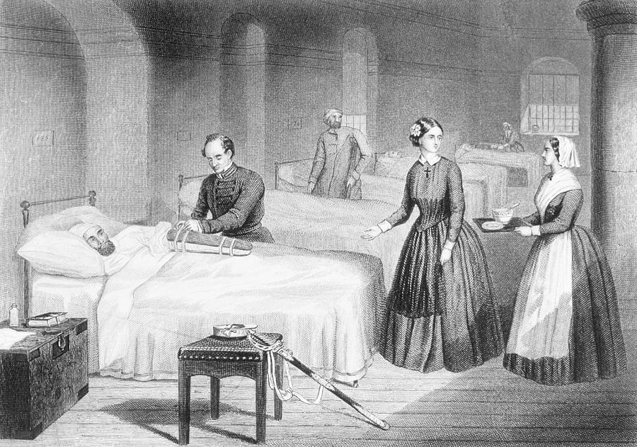 Miss Nightingale In The Hospital Drawing