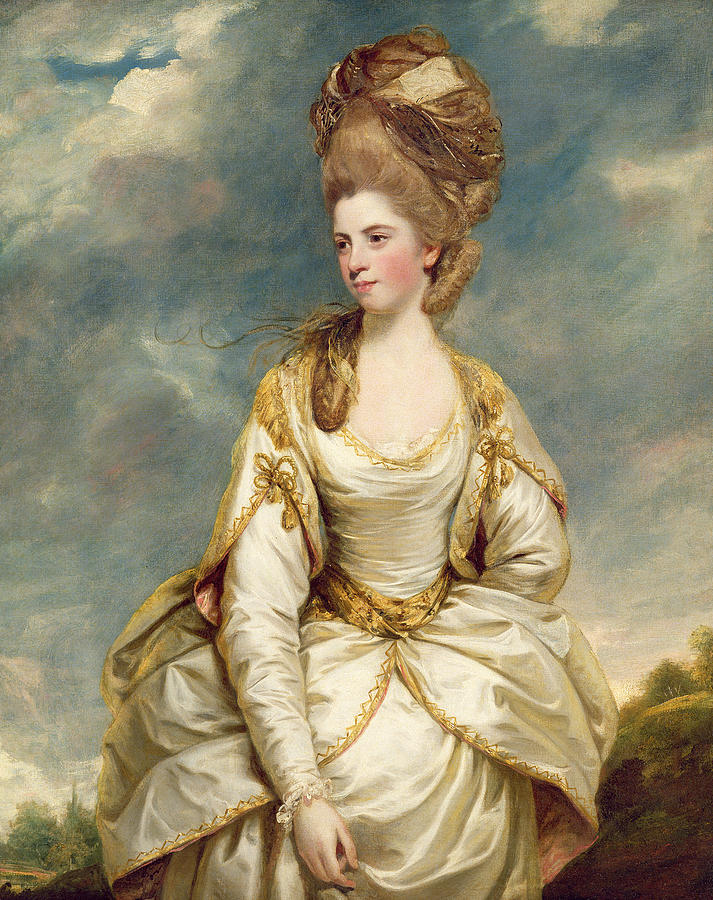 Miss Painting - Miss Sarah Campbell by Sir Joshua Reynolds