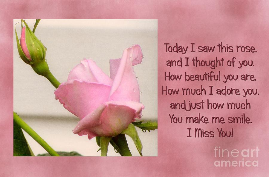 cute, i miss you, pink, quote, text - image #424666 on Favim.com