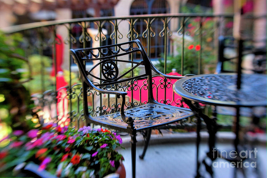 Mission Inn Patio Photograph  - Mission Inn Patio Fine Art Print