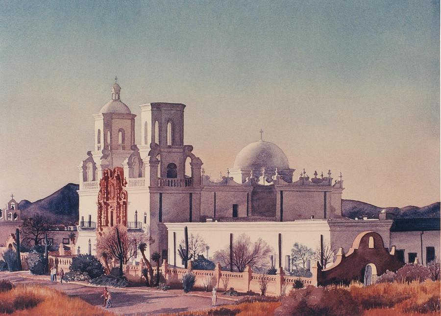 Mission San Xavier Del Bac Tucson Painting